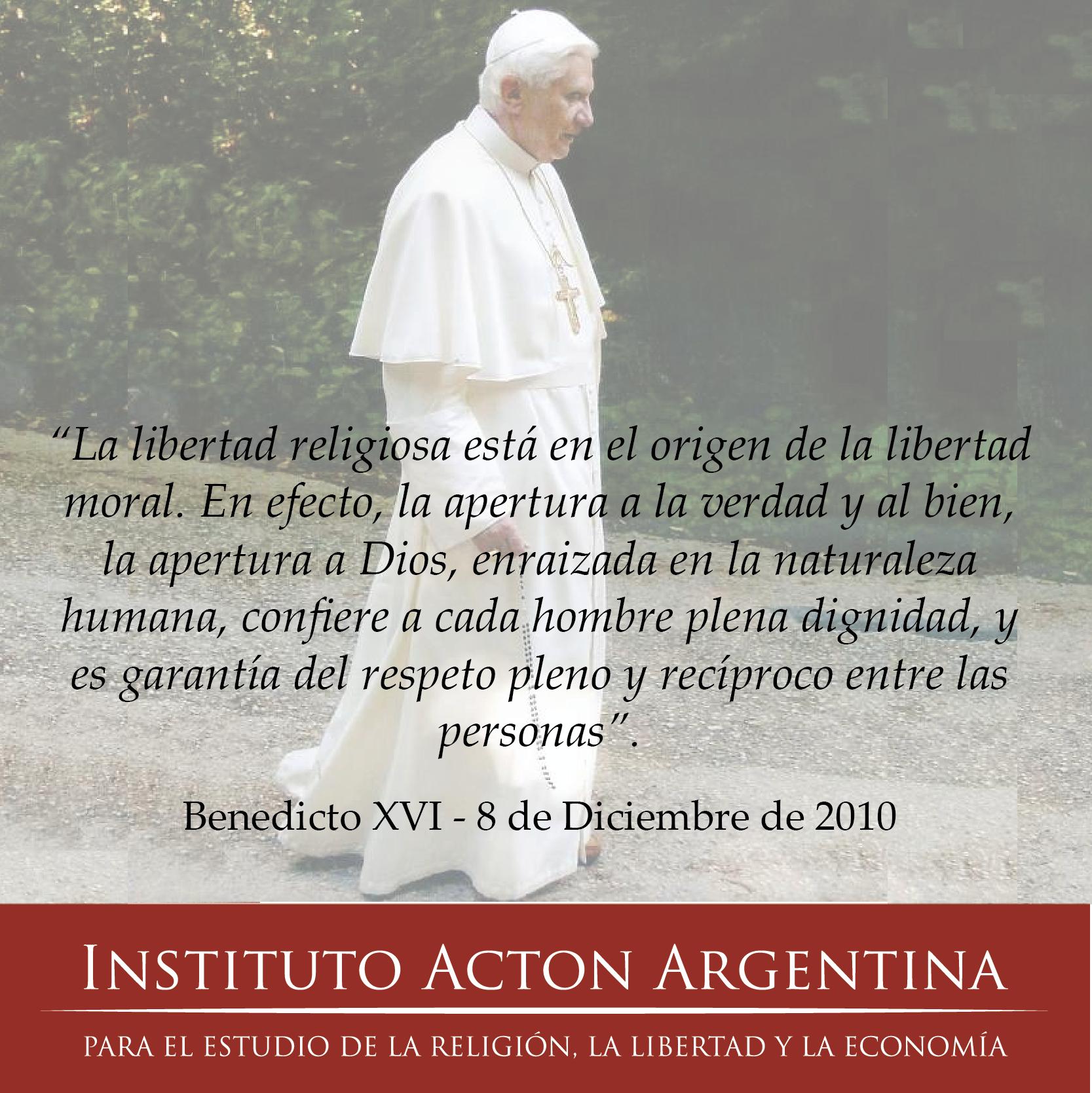 benedicto libertad religiosa 5