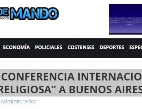 """Cambio de Mando: """"Llega una conferencia internacional sobre libertad religiosa a Buenos Aires"""" (25 de febrero, 2015)"""