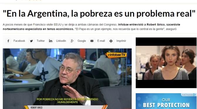 Infobae TV: Entrevista al Rev. Robert A. Sirico (Marzo 17 de 2015).