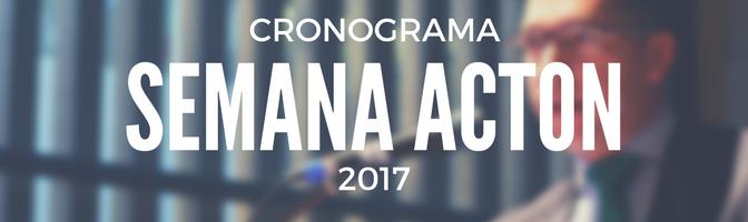 SEMANA ACTON 2017 – CRONOGRAMA