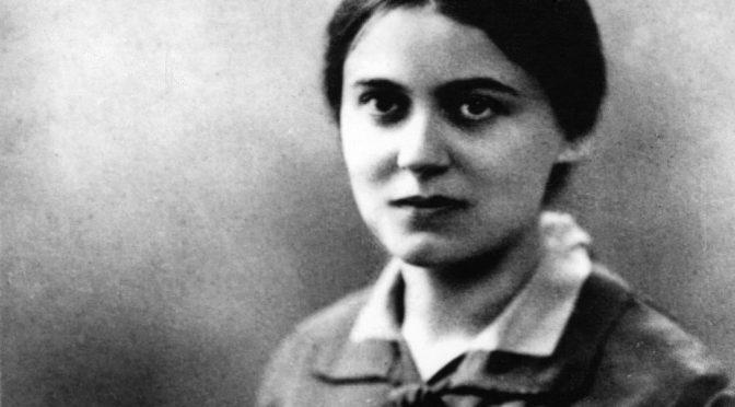 Sobre Edith Stein, filósofa, conversa, mártir y santa – Ernesto Alonso